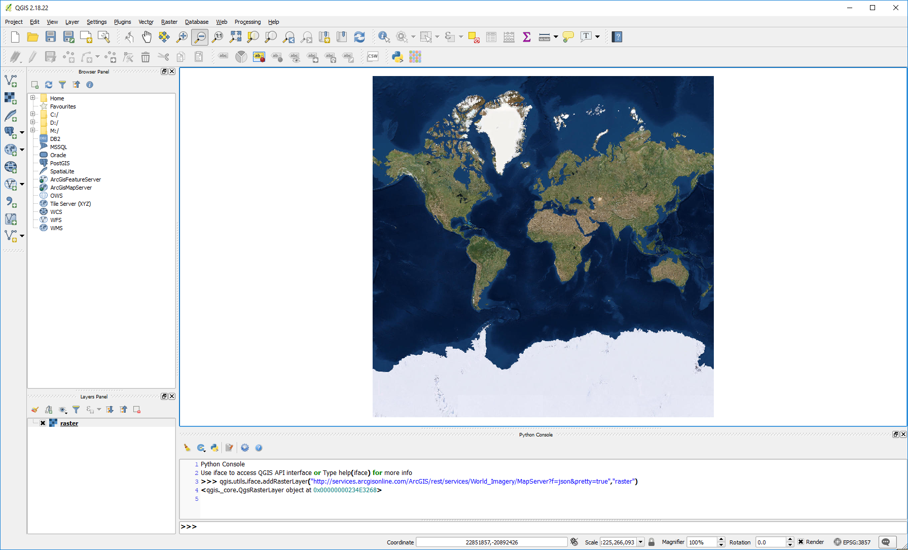 Create a ESRI Satellite mbtiles base map with QGIS and